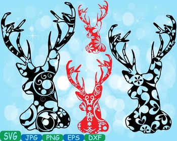 Merry Christmas Deer Woodland school Clipart zoo circus fl