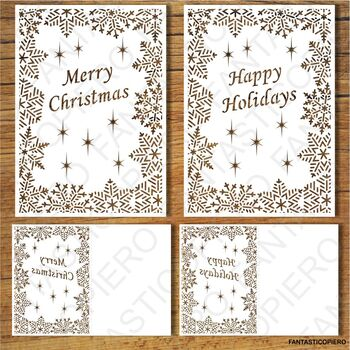 Merry Christmas, Greeting Card SVG files for Silhouette Cameo and Cricut.