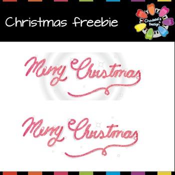 Merry Christmas Handwriting Freebie