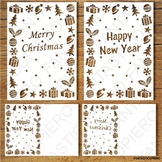 Merry Christmas, Happy New Year SVG files for Silhouette Cameo and Cricut.