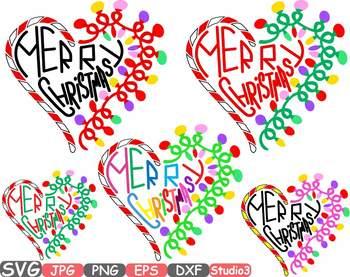 Merry Christmas Heart Clipart Studio3 Santa ball magic xmas Holidays Winter 734S