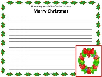 Merry Christmas How Many Words Can You Make 438809 on Nd Grade Spelling Worksheets Math Cover