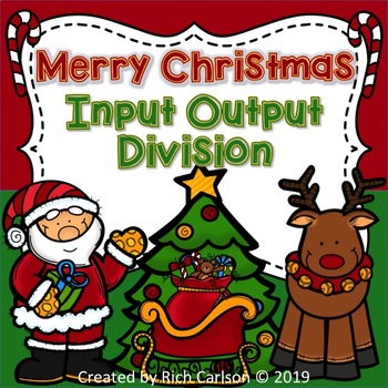 Merry Christmas Input Output Division! Christmas Division FUN! (Black Line)