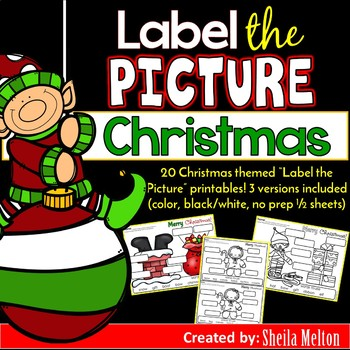 Merry Christmas Label the Picture