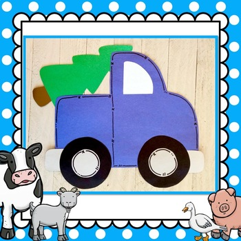 Merry Christmas Little Blue Truck Craft & Stick Puppets for Story Retelling