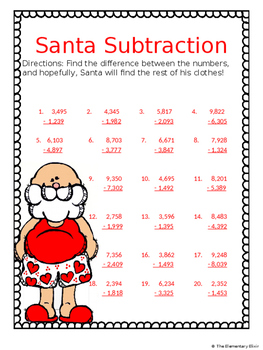 Merry Christmas to Math Student Activity Pack