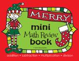 Merry Christmas Math Review Mini Book