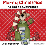 Christmas Math / Two Digit Addition & Subtraction / Color by Number