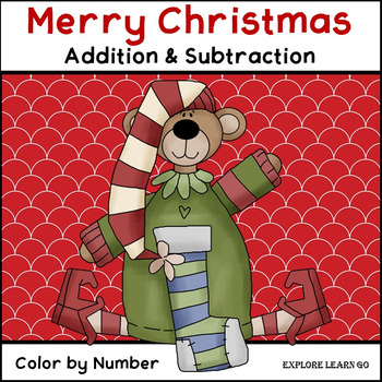 Christmas Math / Two Digit Addition & Subtraction / Color