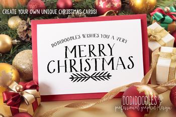 Merry Christmas Overlays, Christmas Clipart, Digital Overlays