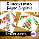 Christmas Paper Airplanes