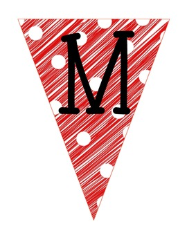 Merry Christmas Pennant Banner (Scribble Design)
