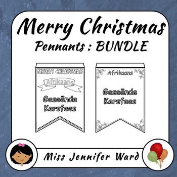 Merry Christmas Pennants BUNDLE NO PREP