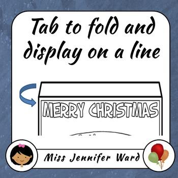 Merry Christmas Pennants Set 1 (Blackline) NO PREP