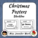 Merry Christmas Posters (Blackline)