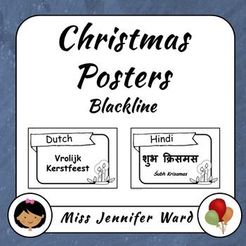Merry Christmas Posters (Blackline)