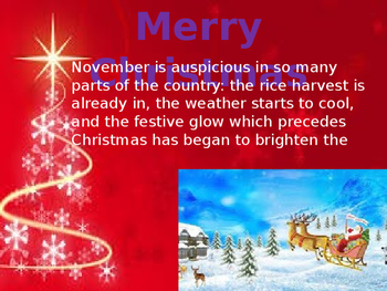 Merry Christmas PowerPoint (PPT) Presentation with Themetic Background Music