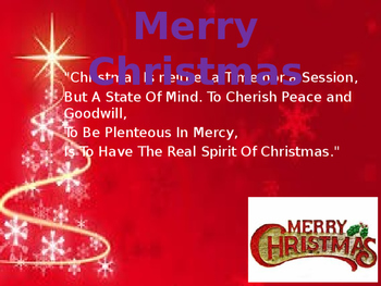 merry christmas powerpoint (ppt) presentation with themetic, Powerpoint templates