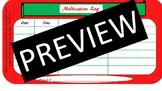 Merry Christmas Prescription Log Chart Management Printable