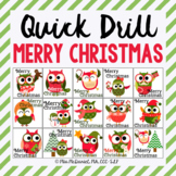 Quick Drill Merry Christmas {for speech therapy or any ski