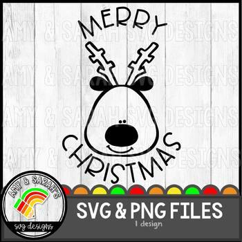 Merry Christmas (Rudolph) SVG Design