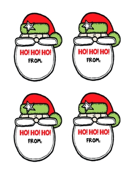 Merry Christmas SANTA Gift Tags