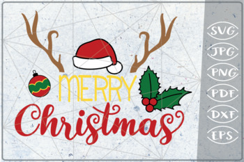 Merry Christmas SVG Reindeer Quote SVG Merry Christmas Quote
