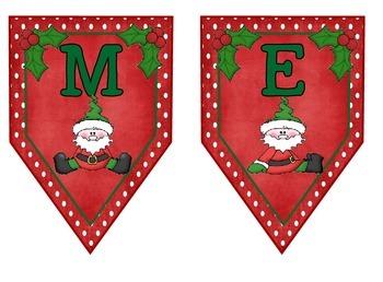 Merry Christmas Santa Elf Banner