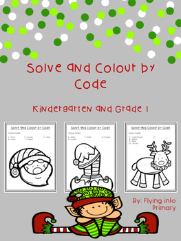 Merry Christmas! Solve and Colour by Code - Addition