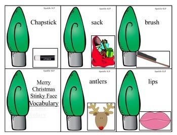 Merry Christmas Stinky Face Book Companion:  Speech Language and Literacy