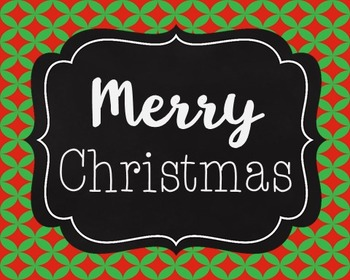 Merry Christmas Poster, Class Decor, Holiday Sign, Bulletin Board