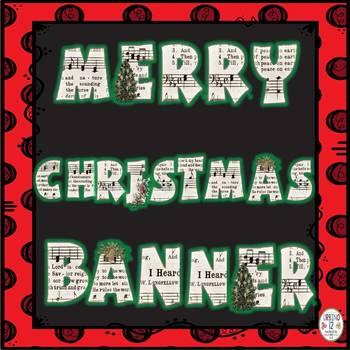 Merry Christmas Vintage Banner