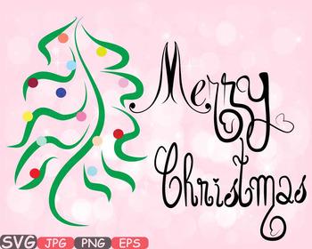 Merry Christmas Word Art Png.Merry Christmas Word Art Clip Art Snow Gift Santa Christ Tree Green Shirt 540s