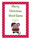 Merry Christmas Word Game