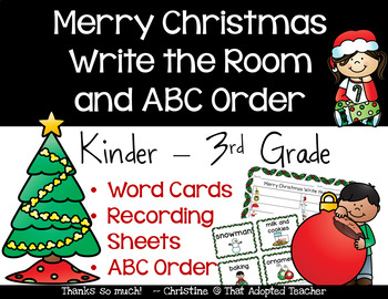 Merry Christmas Write the Room and ABC Order