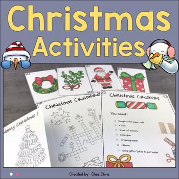 Merry Christmas: activities / flashcards / crackers / Gingerbread man recipe...