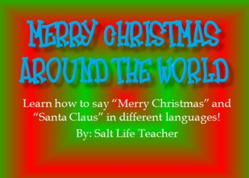 picture about Merry Christmas in Different Languages Printable titled Merry Xmas and Santa Claus inside of option languages near the entire world
