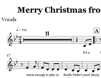Merry Christmas from the Rio Grande Score and Parts for Band