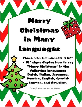 Merry Christmas in Many Languages