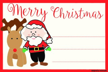 A card for a Merry Christmas