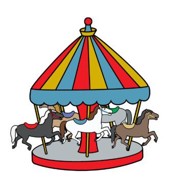 merry go round amusement park ride clip art by snappy teacher tpt rh teacherspayteachers com amusement park clip art free Cartoon Amusement Park