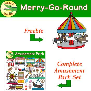 Merry-Go-Round Amusement Park Ride Clip Art