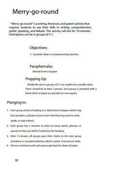 Merry-Go-Round Brainstorming Activity