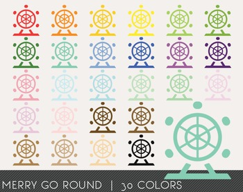 Merry Go Round Digital Clipart, Merry Go Round Graphics, Merry Go Round PNG
