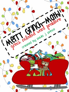 Merry Grinch-Math! {Grinch Related Word Problems}
