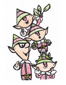 Merry Little Elves, Fraction/Decimal/Percent Coloring Activity