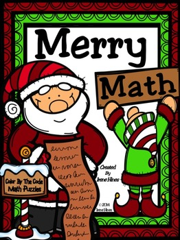 Christmas Merry Math Activities: Addition & Subtraction Color By The Number Code