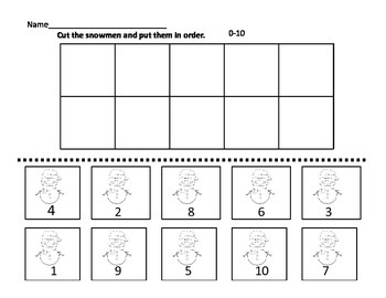 Merry Math Freebie  Sequencing K-1