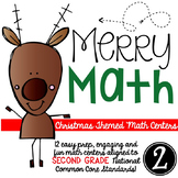 Merry Math-SECOND grade Christmas Math Centers