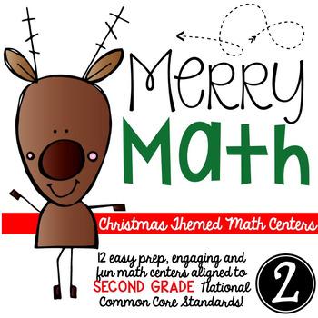 Merry Math-SECOND grade Christmas Math Centers